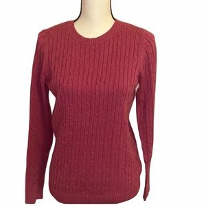 Croft & Barrow Cable Knit Sweater Size Small